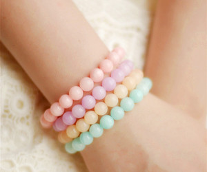 accessory, pink, and bracelet image