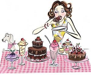 art, cake, and desert image
