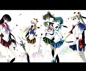 anime, sailor mercury, and wallaper image