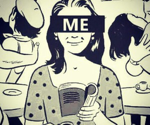 me, book, and alone image
