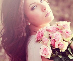 girl, girly, and roses image