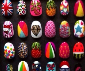colorful, design, and nail image