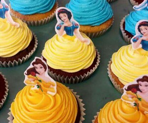 disney, princess, and cupcake image
