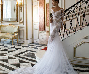 beautiful, bridal gown, and wedding dresses image