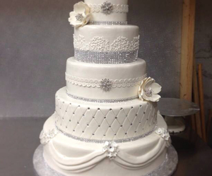 cake, flower, and grey image