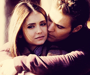 the vampire diaries, stefan, and elena gilbert image
