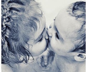 baby, kiss, and love image