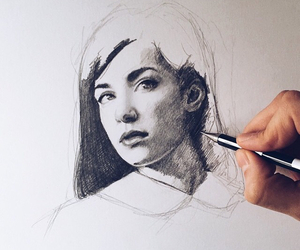 beautiful, drawing, and girl image