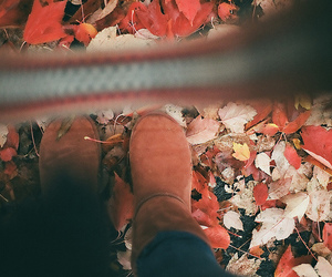 art, autumn, and boots image