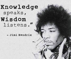 quote, Jimi Hendrix, and knowledge image