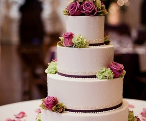 cake, wedding, and beautiful image
