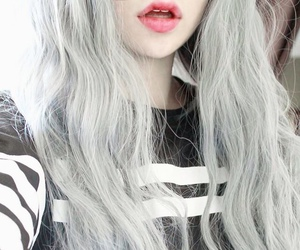 hair, grunge, and lips image