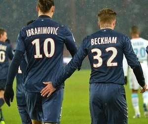 David Beckham and zlatan ibrahimovic image