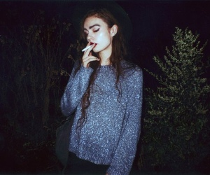 girl, night, and pale image