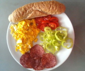 breakfast, food, and tomatoes image