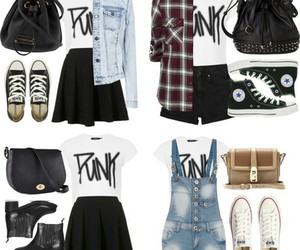 outfit, punk, and style image