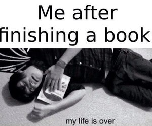 book, funny, and life image