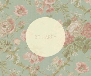 happy, vintage, and flowers image