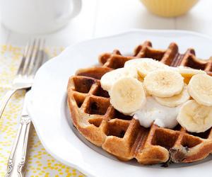banana, breakfast, and girl image