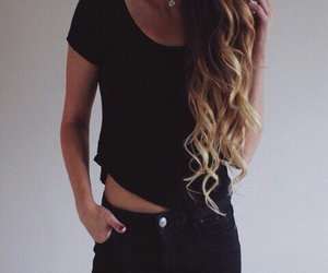 cute and blond tips image