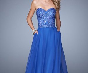 beaded, formal prom dress, and long image
