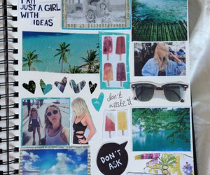 summer, notebook, and tumblr image