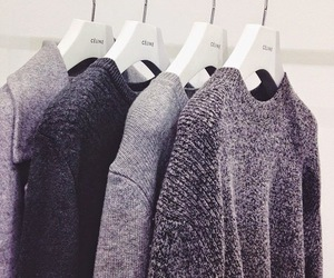 fashion, grey, and sweater image