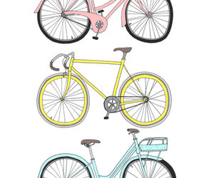 bike, bicycle, and drawing image