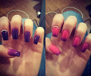 cool, nail, and pink image
