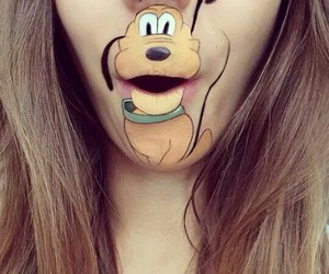 disney, lips, and pluto image