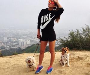 fashion, dog, and nike image