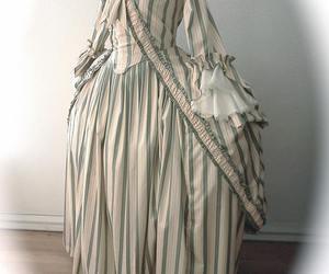 dress, stripes, and fashion image