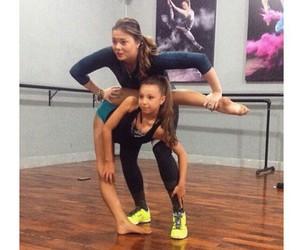 dancer, flexible, and over split image