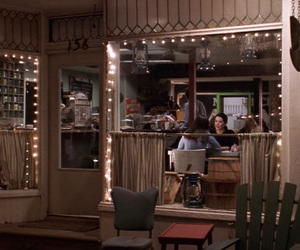 gilmore, rory gilmore, and luke's diner image