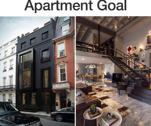 apartment, black, and new york image