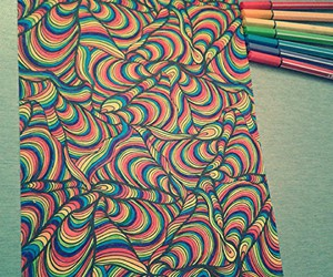 pencil and rainbow image