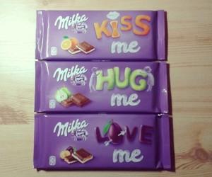 chocolate, milka, and kiss me image