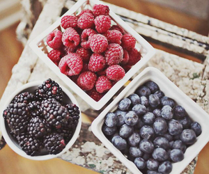 fruit, blueberry, and blackberry image