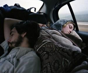 couple, sleep, and car image