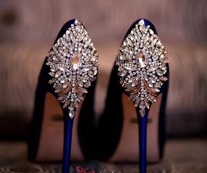 shoes, luxury, and diamond image