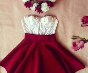 fashion, red, and dress image