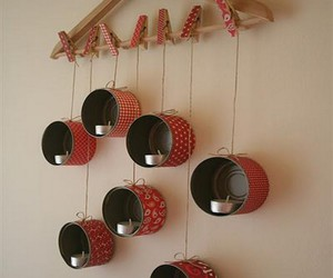 diy tutorial, home decor idea, and recycled tins image