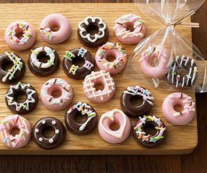 doughnuts, food, and kawaii image