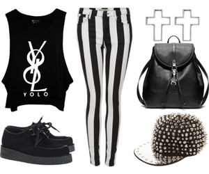 creepers, Polyvore, and outfit image