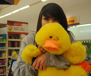 duck, girl, and cute image