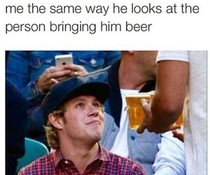niall horan, one direction, and beer image