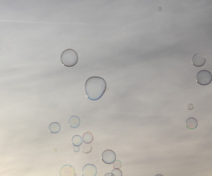 sky, soap bubbles, and himmel image