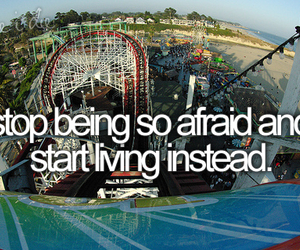 life, afraid, and quotes image