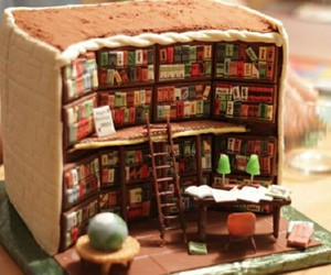 book, food, and cake image
