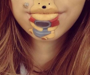 lips, disney, and pooh image
